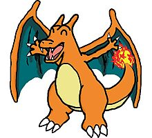 Cute Charizard Photographic Print