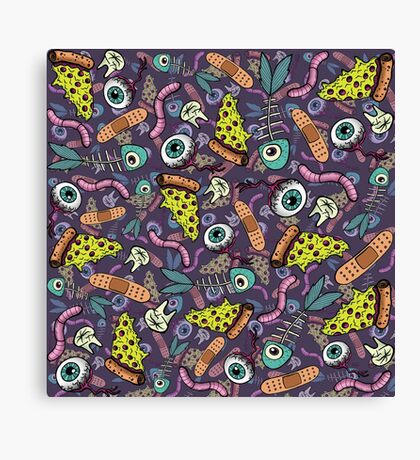 Weird Objects and Pizza Canvas Print