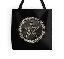 Pentacle Celtic Circle (silver) Tote Bag