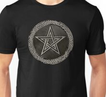 Pentacle Celtic Circle (silver) Unisex T-Shirt