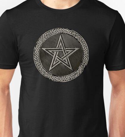 Pentacle Celtic Circle (silver) Unisex T-Shirt