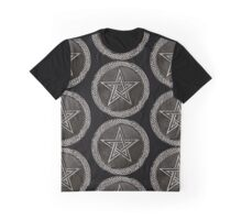 Pentacle Celtic Circle (silver) Graphic T-Shirt
