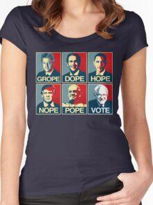Grope Dope Hope Nope Pope Vote Bernie Women's Fitted Scoop T-Shirt