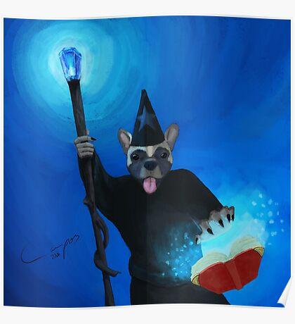 Puppy Spellcaster Poster