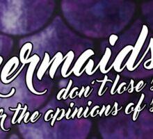 Mermaid Quote (Purple) Sticker