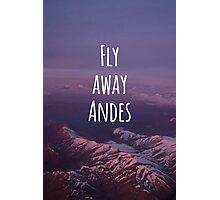 Fly away... Andes! Patagonia Photographic Print