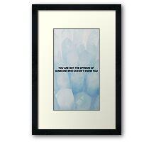 CLEAN SPEECH Framed Print