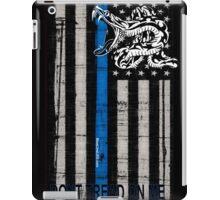Blue Line LEO Dont Tread On me iPad Case/Skin