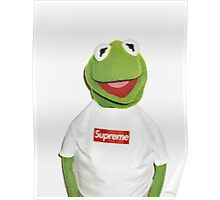 Kermit with Supreme Poster