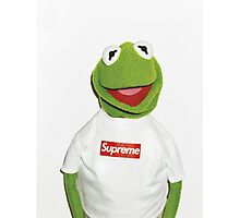 Kermit with Supreme Photographic Print