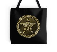 Pentacle Celtic Circle -  gold / copper  Tote Bag