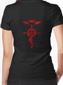 Fullmetal Alchemist logo Women's Fitted V-Neck T-Shirt