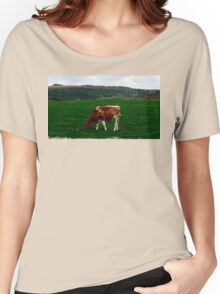 Young Bull on Meadow Women's Relaxed Fit T-Shirt