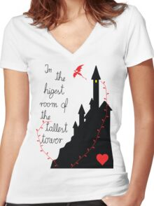 Highest tower Women's Fitted V-Neck T-Shirt