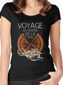 Books Collection: Jules Verne Women's Fitted Scoop T-Shirt