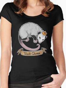 Trash Queen Opossum Possum Women's Fitted Scoop T-Shirt