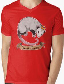 Trash Queen Opossum Possum Mens V-Neck T-Shirt