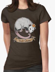 Trash Queen Opossum Possum Womens Fitted T-Shirt