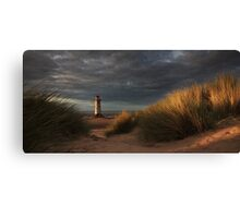 Golden Light at Talacre Canvas Print