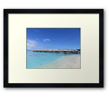 Water Bungalows by the beach Framed Print