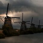 Dutch Windmills in Kinderdjik by JBlaminsky