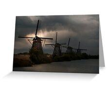 Dutch Windmills in Kinderdjik Greeting Card