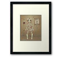 Nina Zombie girl Framed Print