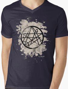 Necronomicon bleached Mens V-Neck T-Shirt