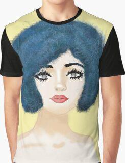 blue curls yellow fun Graphic T-Shirt