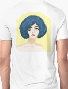 blue curls yellow fun T-Shirt