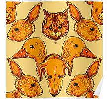 Cute animals pattern Poster