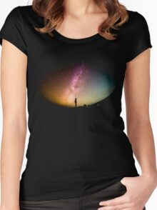 Looking to the Stars Women's Fitted Scoop T-Shirt