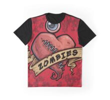 I Love Zombies... with Blood Graphic T-Shirt