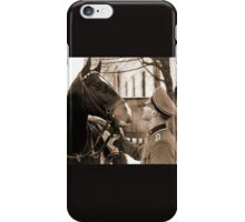 German Elite soldier and his Horse during WW2 iPhone Case/Skin