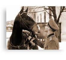 German Elite soldier and his Horse during WW2 Canvas Print