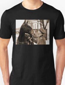 German Elite soldier and his Horse during WW2 T-Shirt