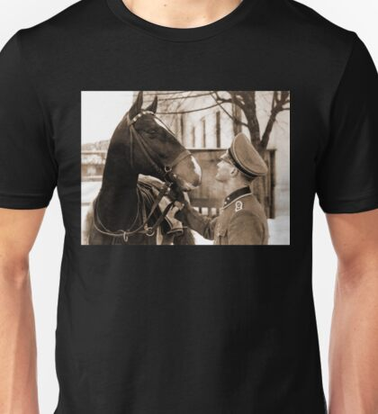 German Elite soldier and his Horse during WW2 Unisex T-Shirt