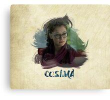 Cosima - Orphan Black - Brush Canvas Print
