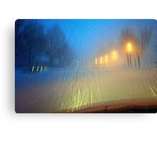Blinding Snowstorm Canvas Print