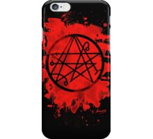 Necronomicon - bleached red iPhone Case/Skin