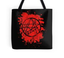 Necronomicon - bleached red Tote Bag