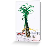 Gonzo Palm Tree Ralph Steadman Case + stickers Greeting Card