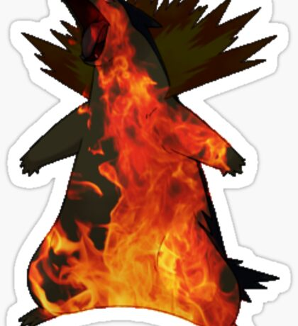 Typhlosion flames Sticker