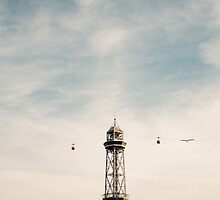 Barcelona Cable Car by PatiDesigns