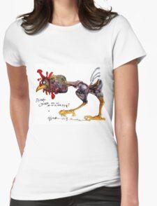 Destiny's Chicken  - Ralph Steadman Womens Fitted T-Shirt