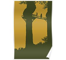 Endor Twilight Silhouette Poster