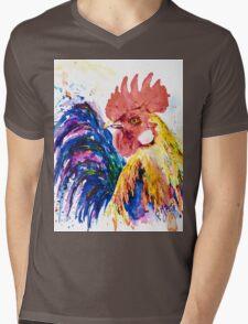 Ricky Rooster Mens V-Neck T-Shirt