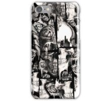 Broken up, Melting skull pattern iPhone Case/Skin