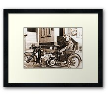 Bad Ass Modified Motorcycle used during WW2 Framed Print
