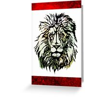 Lion's Blood Reign Greeting Card